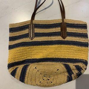 J Crew Straw Beach Bag